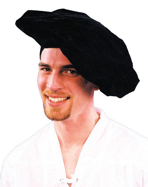Renaissance Hats - Costumes For All Occasions GC159 Renaissance Hat Black