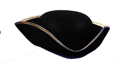 Tricorn Hats - Costumes For All Occasions GC30 Tricorn Hat Economy 1Size Lrg