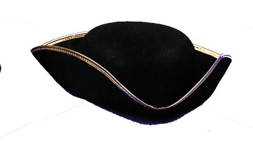 Tricorn Hat - Costumes For All Occasions GC30 Tricorn Hat Economy 1Size Lrg