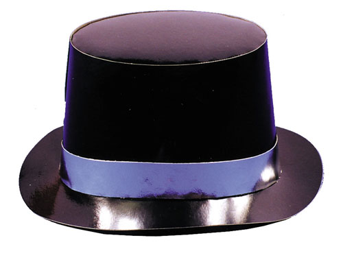 Costumes For All Occasions GC80 Top Hat Cardbrd 1 Hat Eq 1 Unt