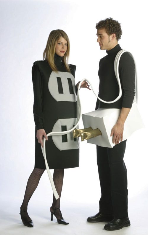 Plug And Socket Costume - Costumes For All Occasions GC8244 Plug And Socket Set Plus Size