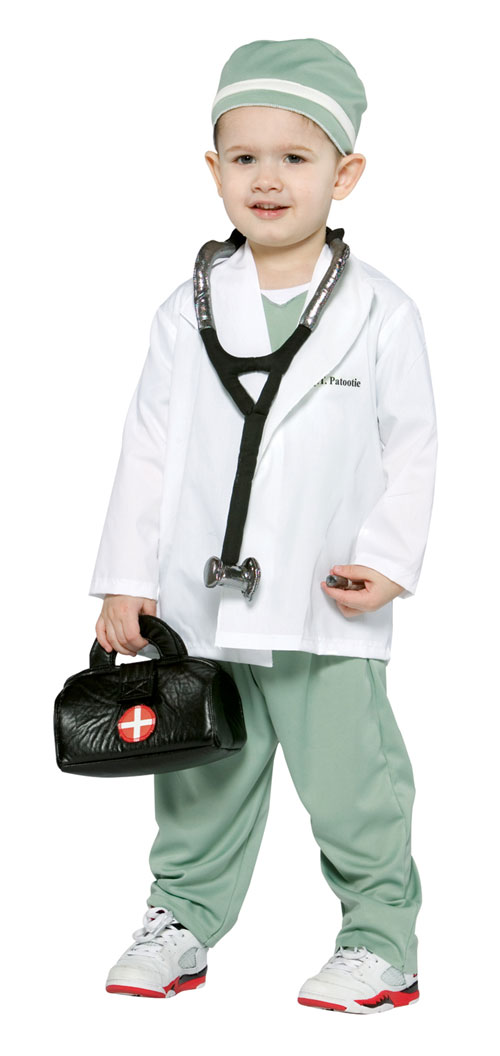 Costumes For All Occasions GC9556 Future Doctor Toddler 2 To 4