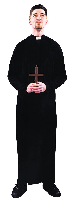 Priest Costume - Costumes For All Occasions AC96 Priest Costume 1 Size