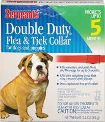 Sergeant S Pet Products Double Duty Flea & Tick Collar - 01127