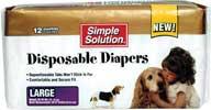 Bramton Co  Disposable Diapers 12pk White Large - 10585