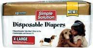Bramton Co  Disposable Diapers 12pk White Extra Large - 10586