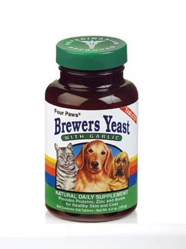 Four Paws Products Brewers Yeast With Garlic 250 Count - 31250