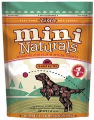 Zuke S Natural Moist Mini Treat Peanut Butter 1 Pound - 33522