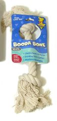 Booda Products 2 Knot Rope Dog Bone White Medium - 5076250704 T