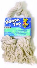 Booda Products 3 Knot Rope Dog Tug White Large - 5080152004 T