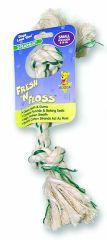 Booda Products Fresh-n-floss 2-knot Bone Spearmint Small - 5230152222