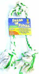 Booda Products Fresh-n-floss 3-knot Bone Spearmint Xlarge - 5231252236
