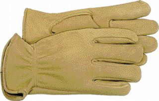Deerskin Gloves - Boss Co Unlined Deerskin Glove Tan Medium Pack Of 12 - 4085M\962M