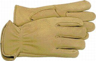 Deerskin Gloves - Boss Co Unlined Deerskin Glove Tan Medium Pack Of 12 - 4085M\962M