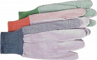 Ladies Gloves - Boss Co Ladies Hob-nob Canvas Glove Assorted Pack Of 12 - 756\313M