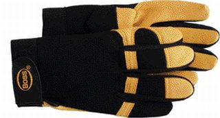 Deerskin Gloves - Boss Co Deerskin Spandex Glove Tan Large - 4087L