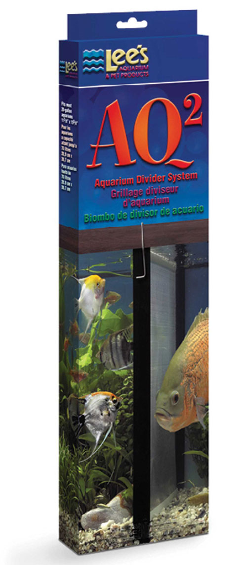 Lee S Aquarium & Pet Products Divider Aquarium System Black 15 20 Gallon - 10605