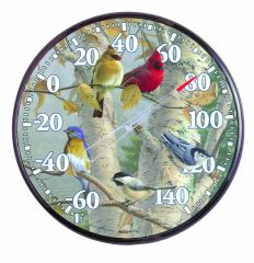 Chaney Instrument Songbirds Thermometer 12.5 Inch 01781