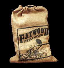 Wood Products International Fatwood Burlap Bag 8 Pounds Pack Of 6 - 09908