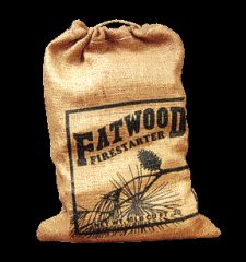 Wood Products International Fatwood Burlap Bag 10 Pounds Pack Of 4 - 09912