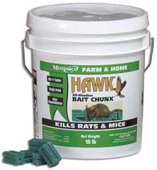 Durvet Motomco Hawk Bait Chunx 18 Pound - 31218