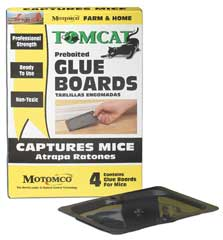 Durvet Motomco Tomcat Mice Glue Board 4 Pack - 32420-3