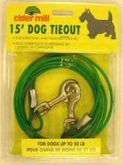 Booda Products Vinyl Tieout Green 15 Feet - 3492015