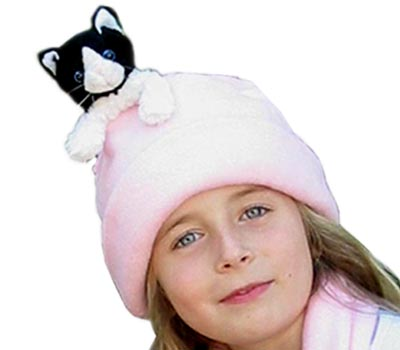 The Cat In The Hat - Bear Hands FHS-BWC-PP M Hat Fleece Black And White Cat On Pink - M