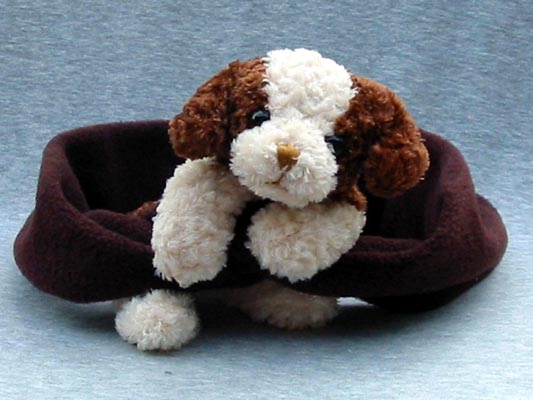Dog Scarves - Bear Hands S-BCD-BR Scarf Brown And Cream Dog On Brown