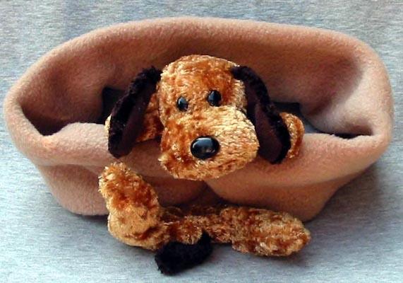 Dog Scarves - Bear Hands S-FLD-CAM Scarf Floppy Ear Dog On Camel