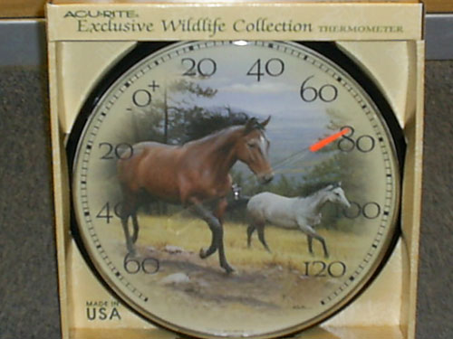 Accurite ACCURITE1839 Horse Indoor and Outdoor Thermometer