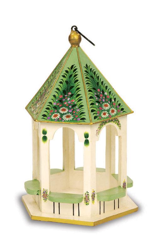 Achla Designs ACHLABF20 Hand Painted Wooden Victorian Birdfeeder