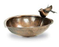 Achla ACHLAHBB01 Heart Shaped Brass Covered Bird Bath - Garden D+¬cor