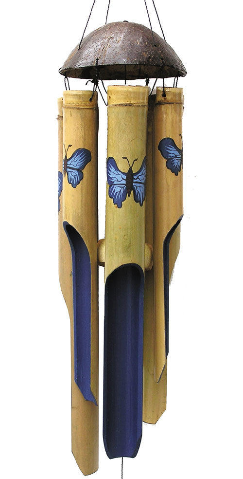 Cohasset Imports Blue Butterfly Med. Wind Chime