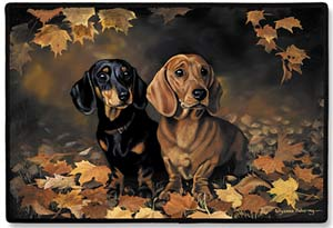 gc1828 Fiddlers Elbow Dachshund Porch Doormat
