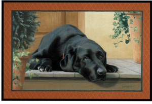 Fiddler s Elbow Black Lab Porch Doormat