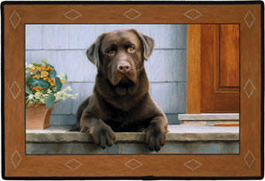 Fiddler s Elbow Chocolate Lab Porch Doormat