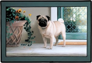"Fiddler s Elbow FED94 27"" x 18"" x 0.25"" Pug Porch Doormat"