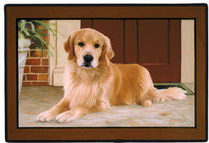 Fiddler s Elbow Golden Retriever Porch Doormat