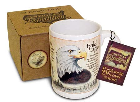 American Expedition AMECM15103 15oz. Bald Eagle Ceramic Mug with Gift Box