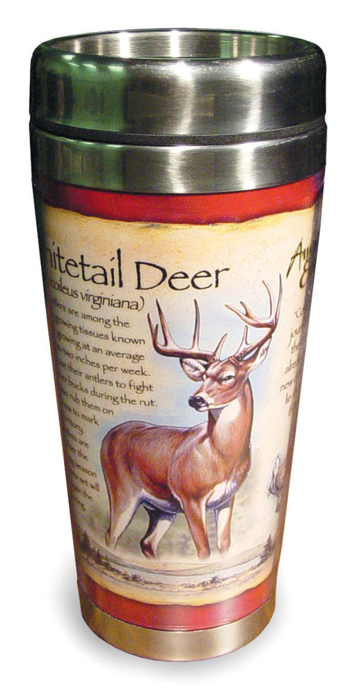 American Expedition White Tail Deer Steel Mug