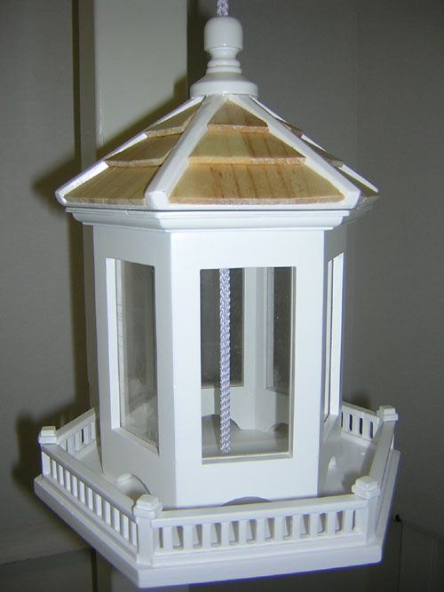 Home Bazaar  Inc. HOMEHB9006 Gazebo Bird Feeder in Victorian White (GC2462) photo
