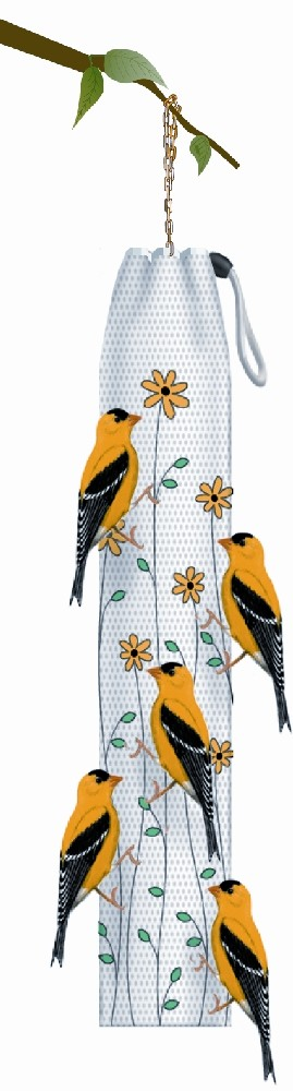 Homestead Thistle Sack - Yellow - Floral Bird Feeder