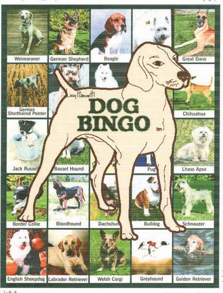 Lucy Hammet Bingo Games Dog Bingo Game LH3277