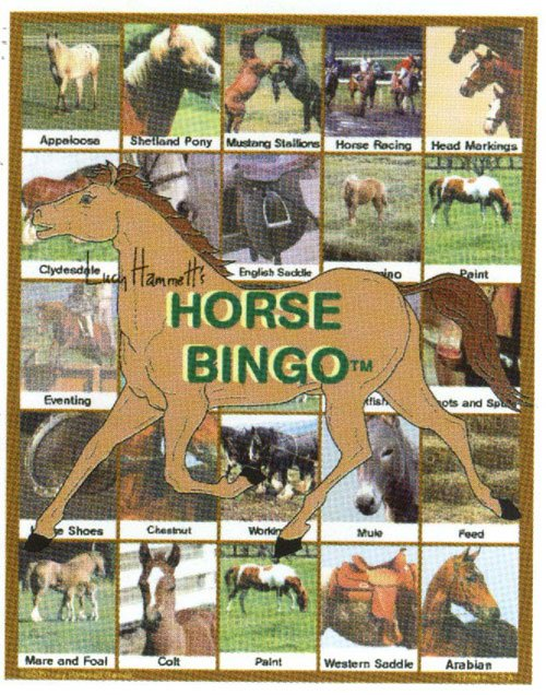 Lucy Hammet Bingo Games LH9177 Horse Bingo Educational Game