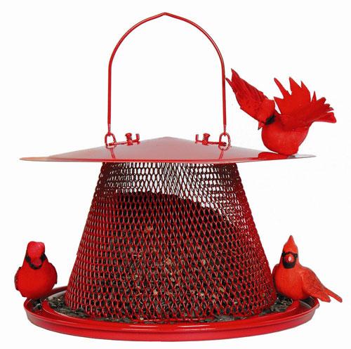 No-No Feeder NONOC00322 Cardinal Wire Mesh Bird Feeder - Red (GC3312) photo