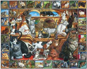 White Mountain Puzzles World of Cats Puzzle