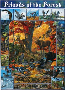 White Mountain Puzzles Friends of the Forest Puzzle