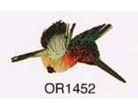 Brushkins by Nature s Accents Hummingbird Grn and Yellow Ornament