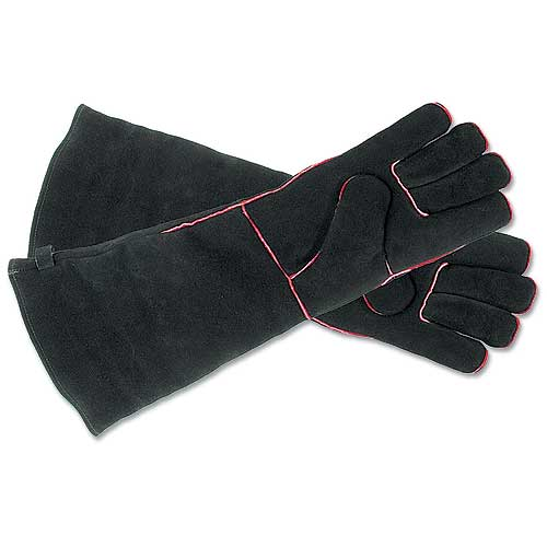 Minuteman A-13B Hearth Gloves - Long - Black